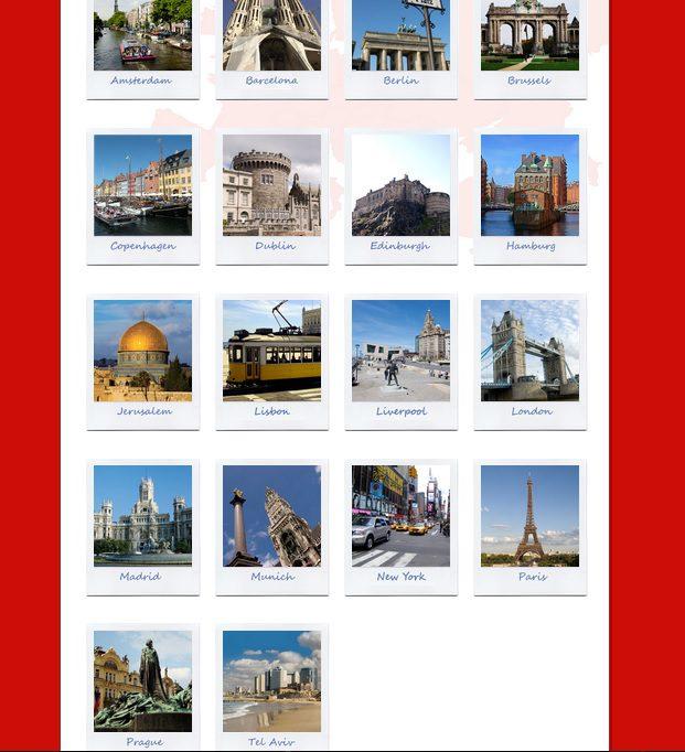 ciudades del freetour