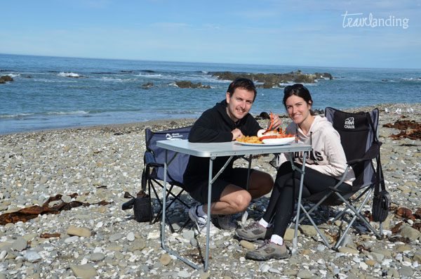 comer langosta en kaikoura