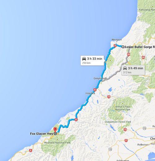 Ruta por la Costa Oeste de Nueva Zelanda
