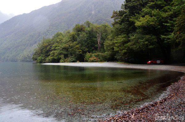 lago carretera milford sound