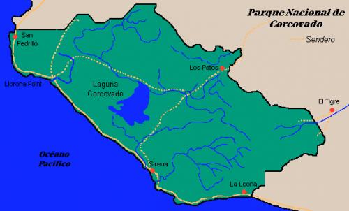 mapa corcovado
