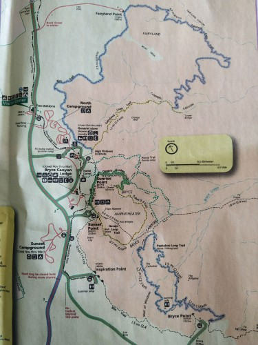 mapa bryce rutas