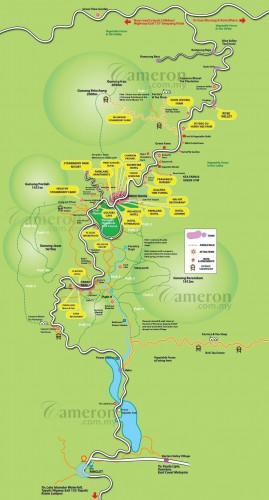 mapa cameron highlands