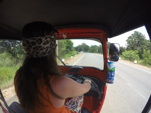 driving a tuktuk