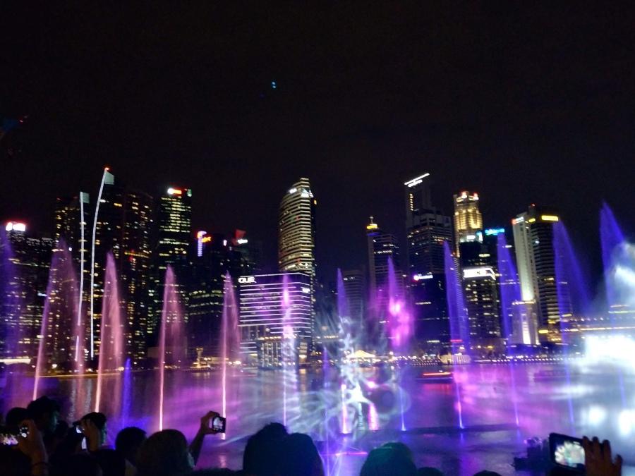 espectaculo de luces marina bay