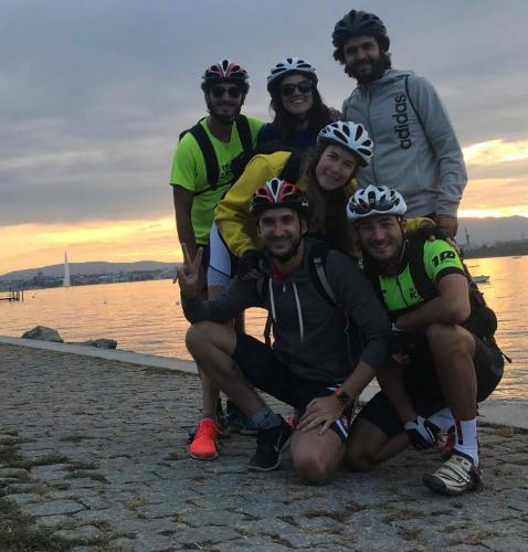 equipo bici lago leman