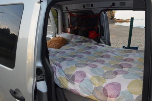 dormir en minivan