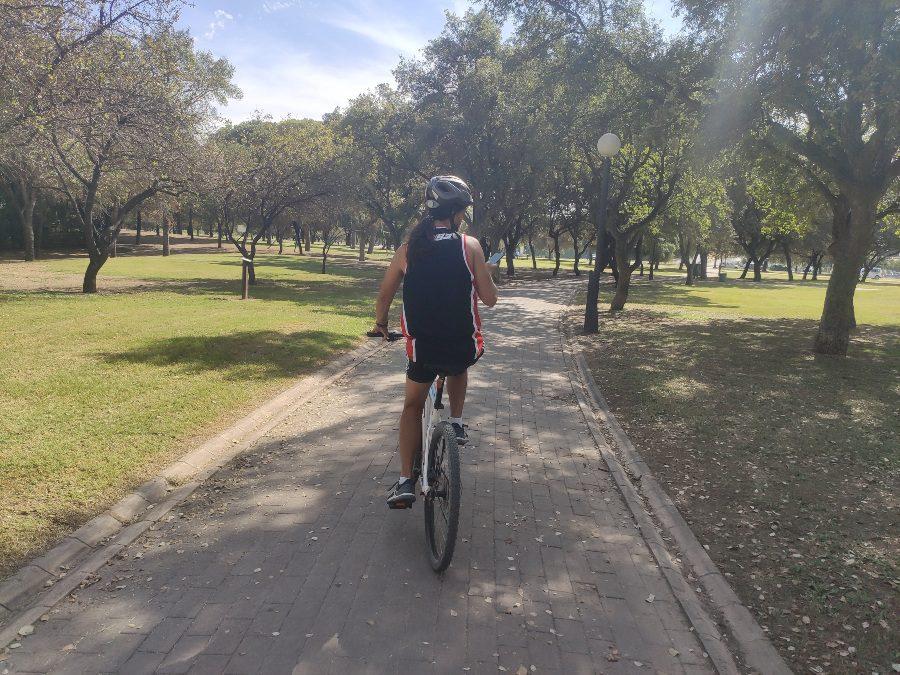 ruta en bici por el alamillo